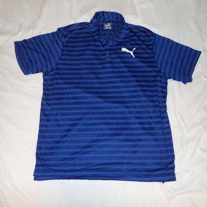 Puma Men's Striped Golf Shirt